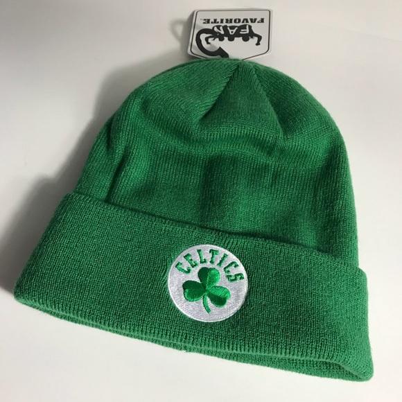 94760bfd191 New NBA Boston Celtics Green Beanie Winter Hat